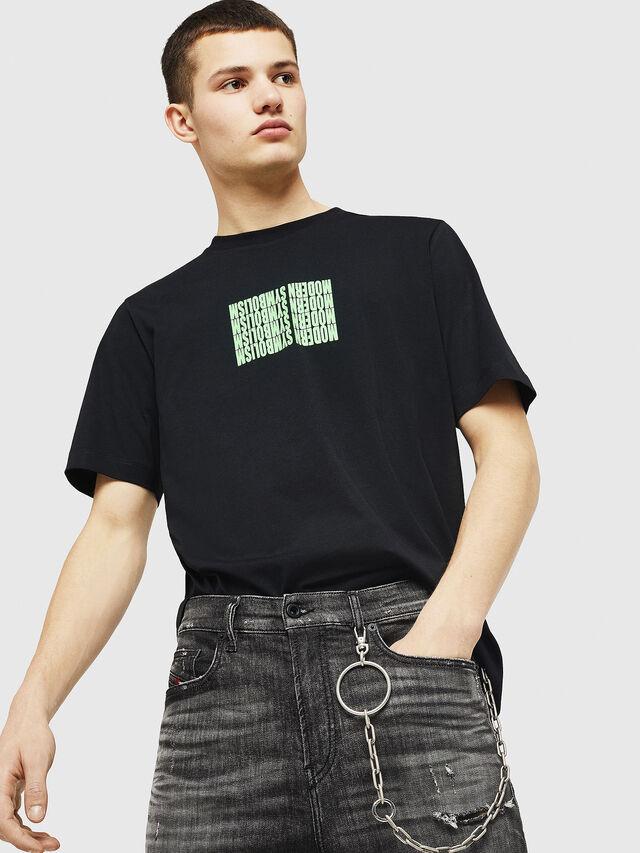 Diesel - T-JUST-Y11, Black - T-Shirts - Image 4