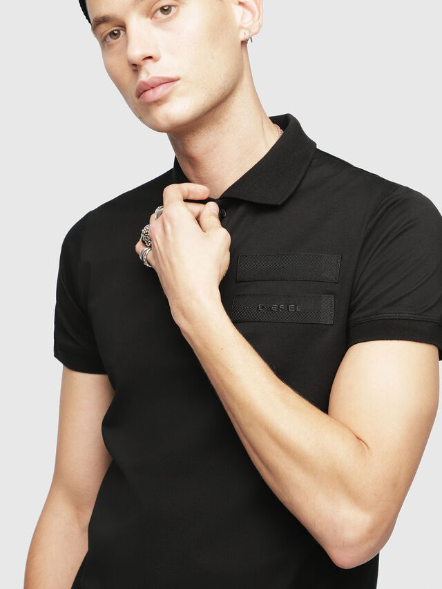 Diesel - T-MIKIO, Black - Polos - Image 3