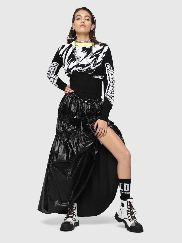 Diesel - O-LIN, Black - Skirts - Image 4