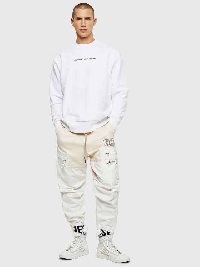 Diesel - S-BAY-COPY, White - Sweatshirts - Image 4