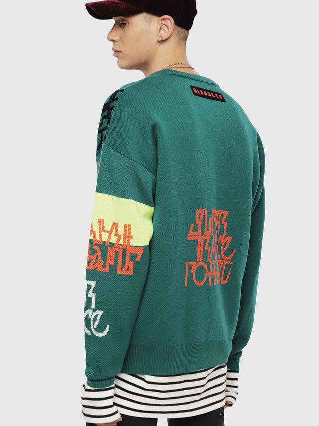Diesel - K-NOX, Dark Green - Sweaters - Image 2