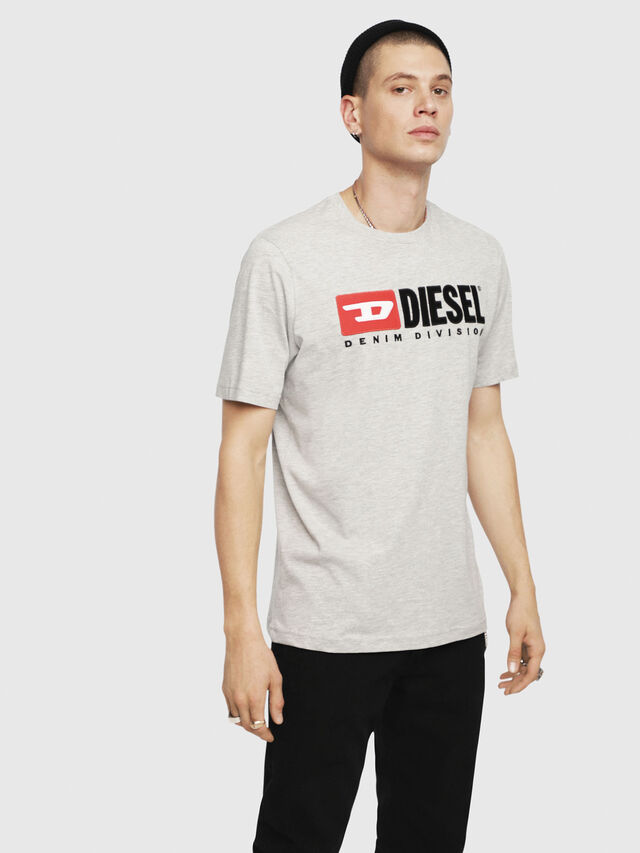 Diesel - T-JUST-DIVISION, Grey - T-Shirts - Image 1