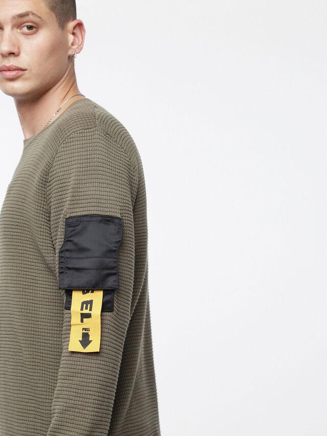 Diesel - K-WAFF, Olive Green - Sweaters - Image 3