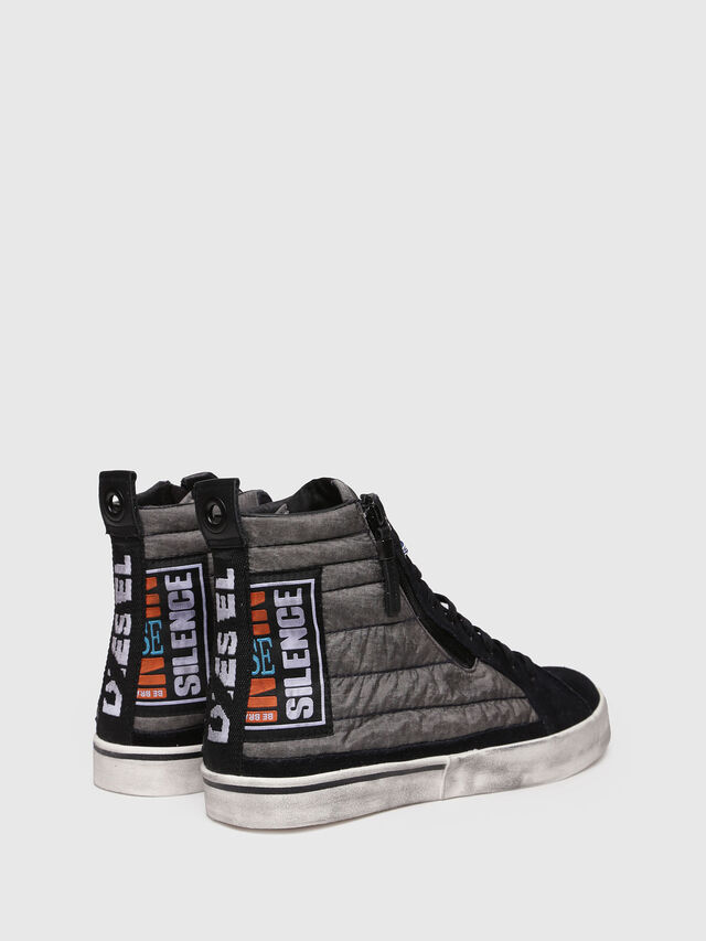 Diesel - D-VELOWS MID PATCH, Gray/Black - Sneakers - Image 2