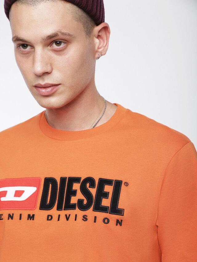 Diesel - T-JUST-DIVISION, Orange - T-Shirts - Image 3