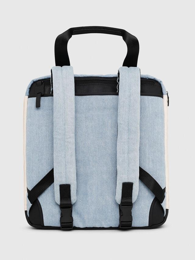 Diesel - D-SUBTORYAL DENIM BA, Blue/White - Backpacks - Image 2