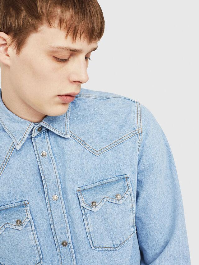 Diesel - D-LEO, Blue Jeans - Denim Shirts - Image 3