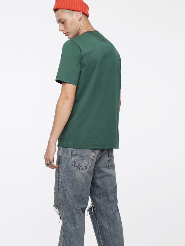 Diesel - T-JUST-DIVISION, Bottle Green - T-Shirts - Image 2