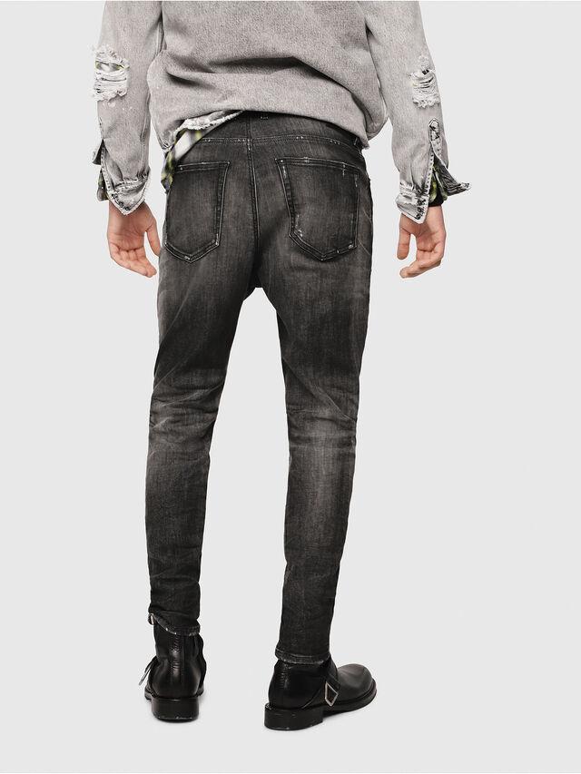 Diesel - D-Vider JoggJeans 0077S, Black/Dark Grey - Jeans - Image 2