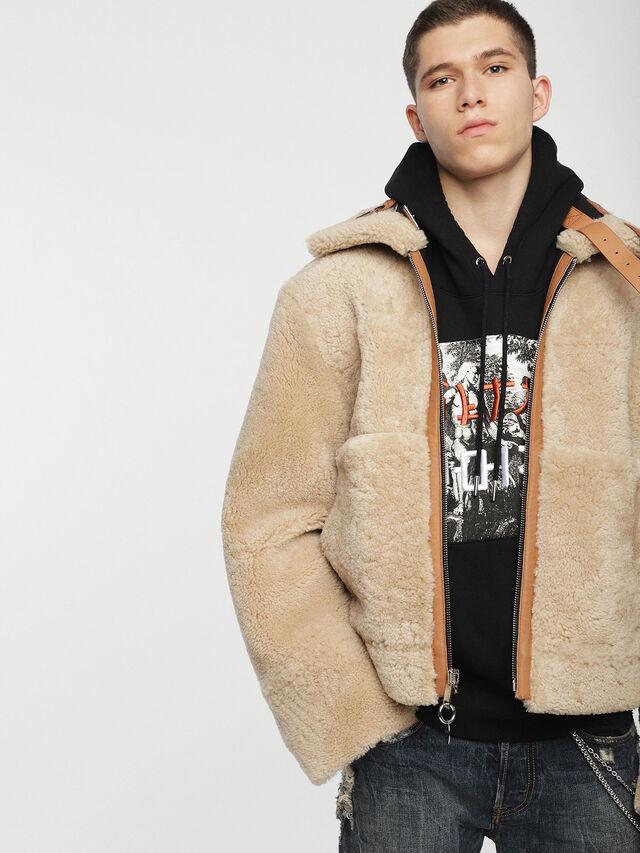 Diesel - L-FOLSON, Black/Brown - Leather jackets - Image 3