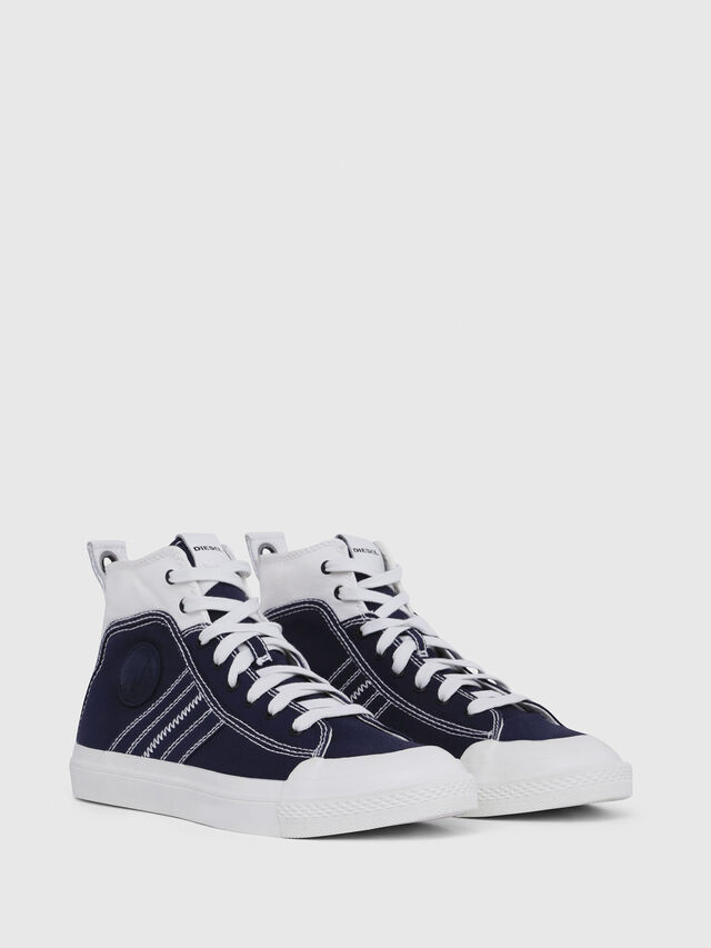 Diesel - S-ASTICO MID LACE, Blue/White - Sneakers - Image 2