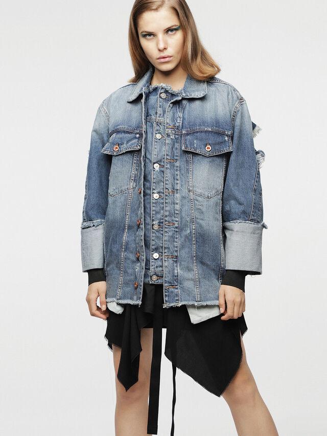 Diesel - DE-VISEMAC, Blue Jeans - Denim Jackets - Image 1