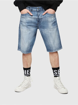 THOSHORT, Light Blue - Shorts. Light Blue. Slim shorts in bleached denim f25bf0f919