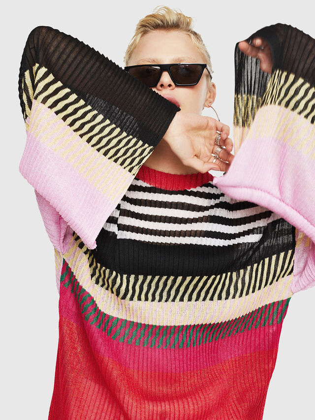 Diesel - M-PLEAT-A, Multicolor - Sweaters - Image 8