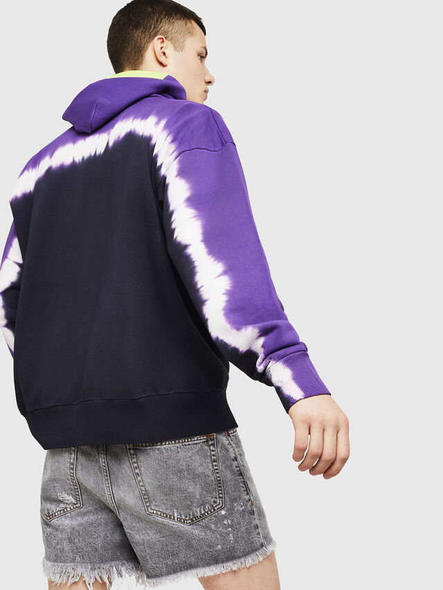 Diesel - S-ALBY-DEEP, Black/Violet - Sweatshirts - Image 2