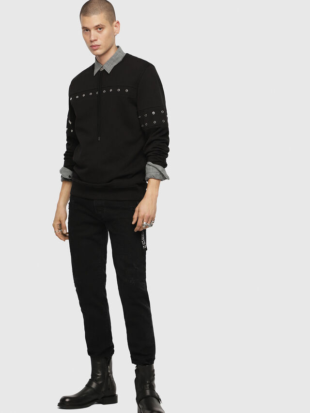 Diesel - S-GIR-XMAS, Black - Sweatshirts - Image 3