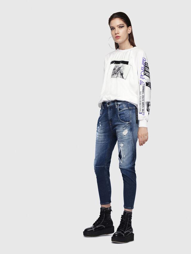 Diesel - Fayza JoggJeans 087AK, Medium Blue - Jeans - Image 5