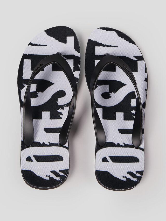 Diesel - SPLISH, Black/White - Slippers - Image 2