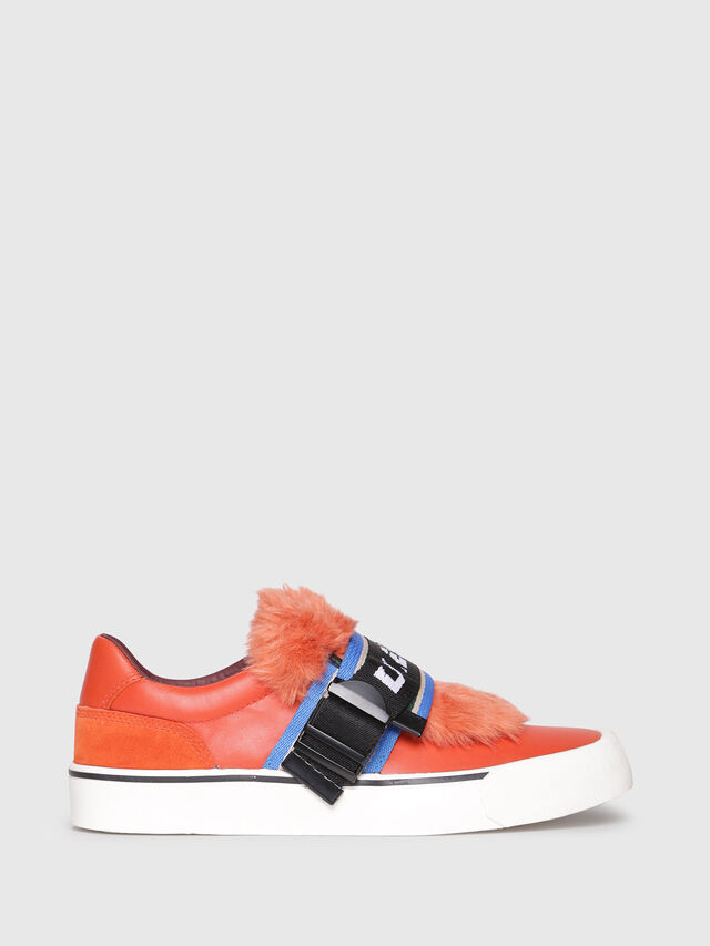 Diesel - S-FLIP LOW BUCKLE W, Orange - Sneakers - Image 1