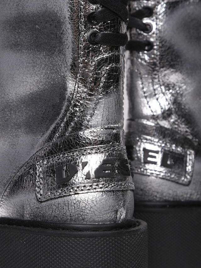 Diesel - D-CAGE HB, Silver - Ankle Boots - Image 4