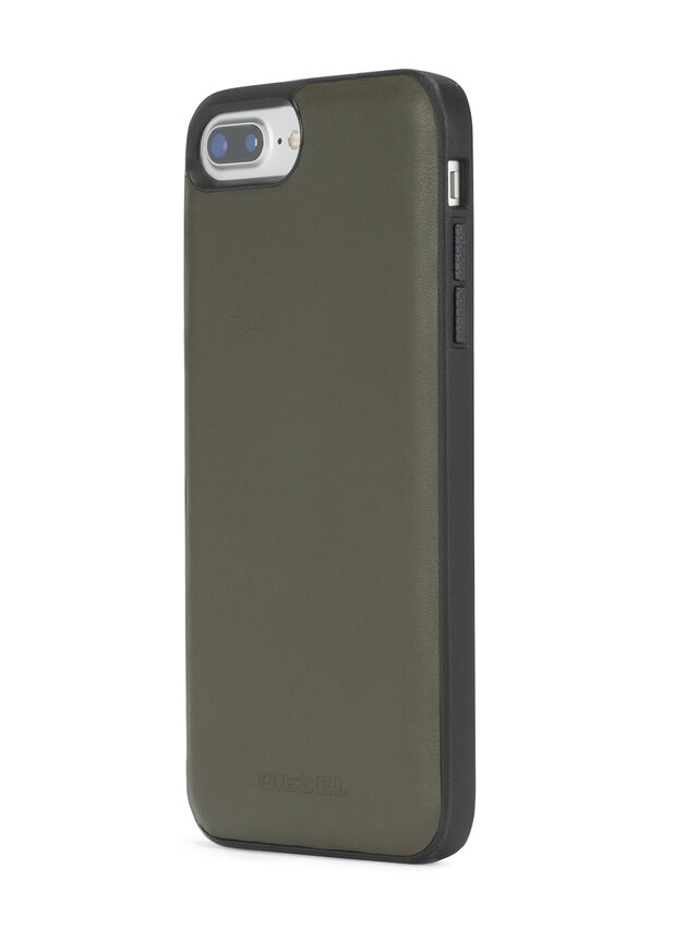Diesel - OLIVE GREEN LEATHER IPHONE 8 PLUS/7 PLUS/6s PLUS/6 PLUS CASE, Olive Green - Cases - Image 6