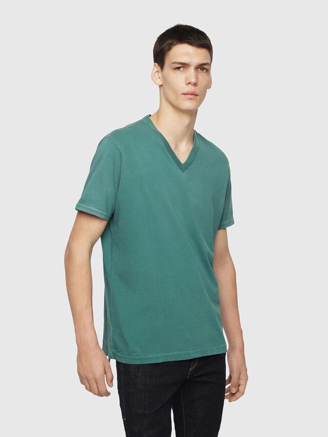 Diesel - T-SHOJI, Dark Green - T-Shirts - Image 1