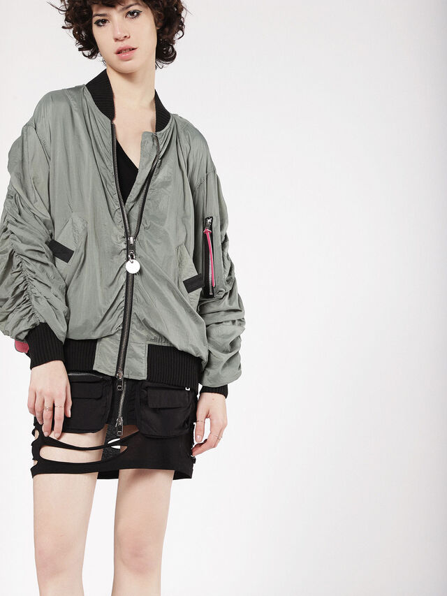 Diesel - G-KRISTA-A, Olive Green - Jackets - Image 1