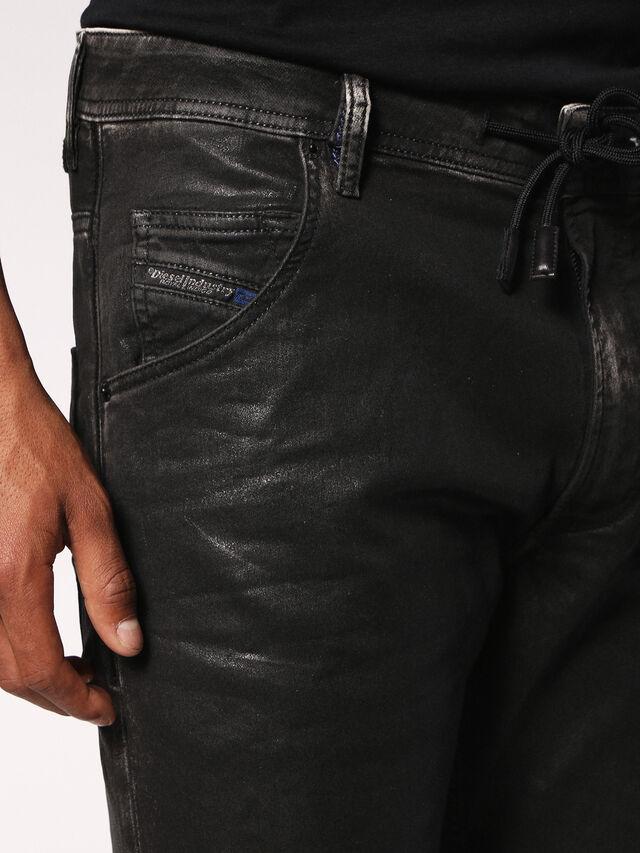 Diesel - Krooley JoggJeans 084HH, Black/Dark Grey - Jeans - Image 5