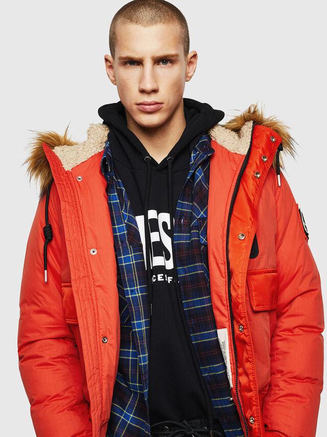 Diesel - W-BURKISK, Orange - Winter Jackets - Image 3
