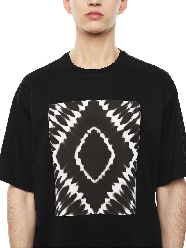 Diesel - TEORIA-TIEDYESQUARE, Black - T-Shirts - Image 3