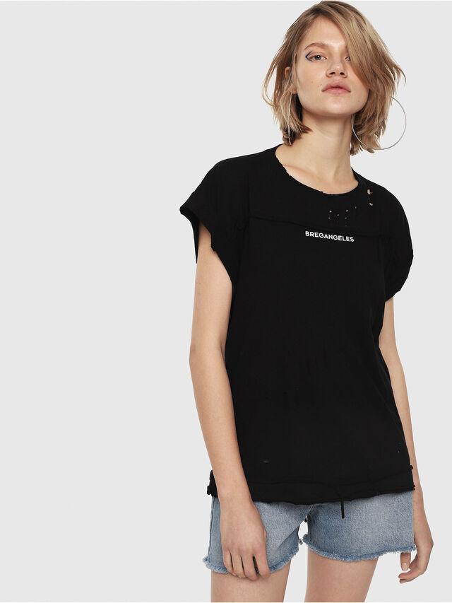 Diesel - T-JAIDA, Black/White - T-Shirts - Image 1