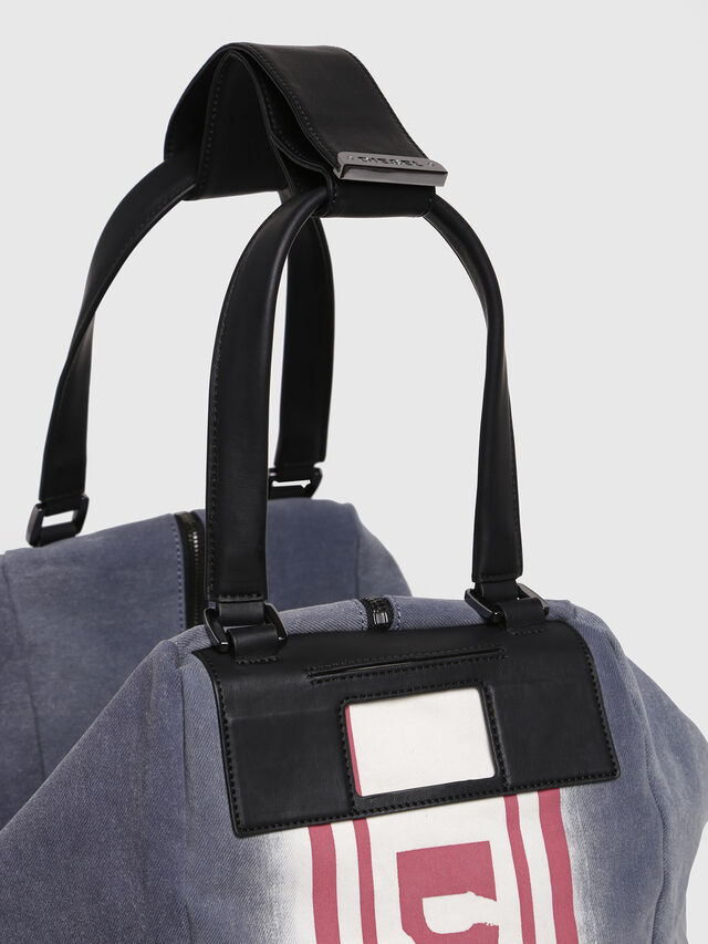 Diesel - D-SCRATCH SHOPPER, Blue - Shopping and Shoulder Bags - Image 3