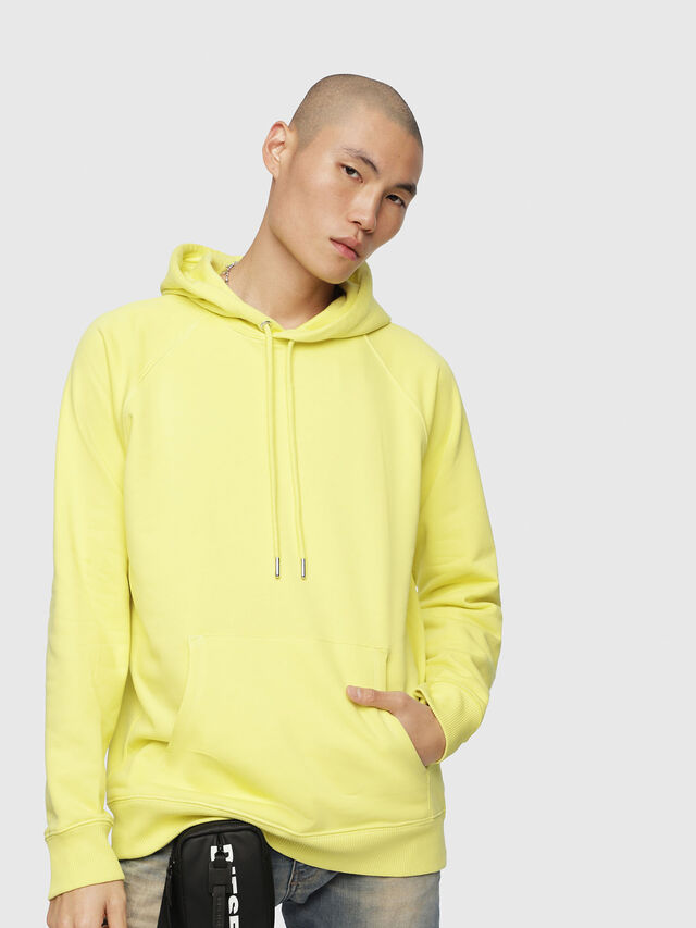 Diesel - S-GIM-HOOD-A, Light Yellow - Sweatshirts - Image 1