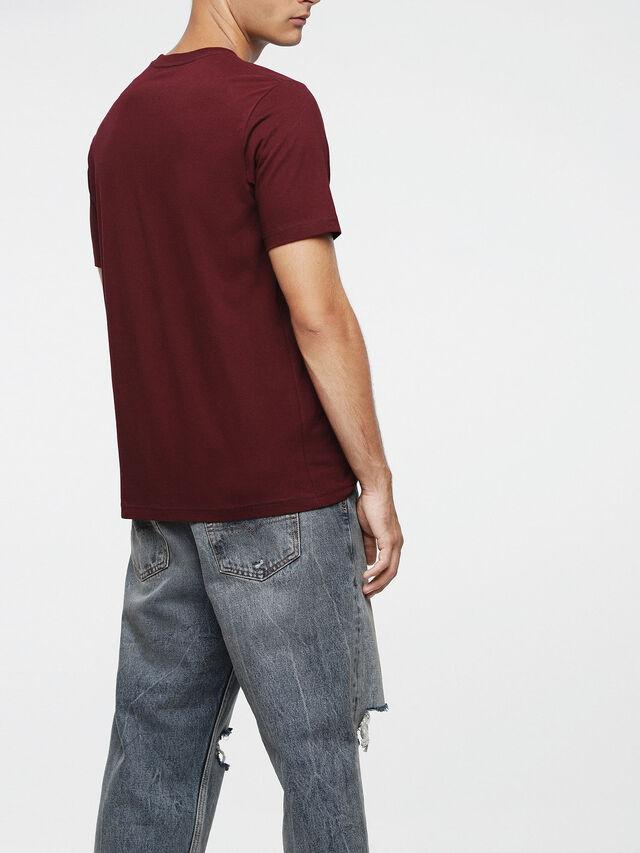 Diesel - T-JUST-POCKET, Burgundy - T-Shirts - Image 2