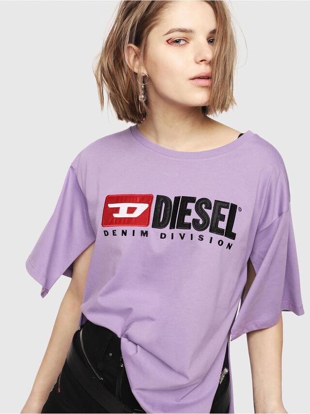 Diesel - T-JACKY-D, Lilac - T-Shirts - Image 1