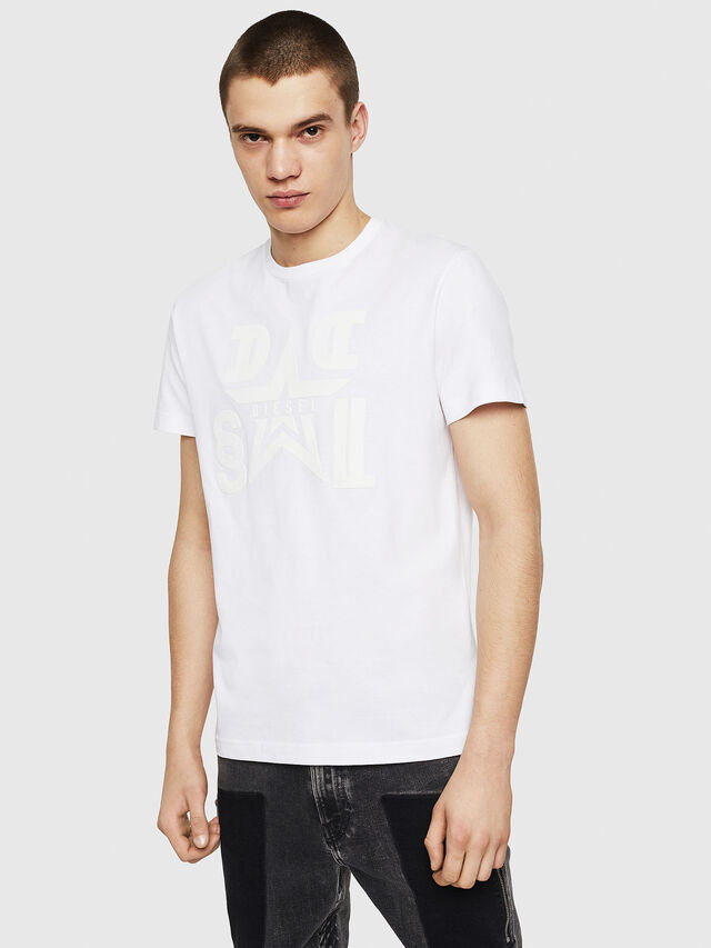 c9e9a748c Diesel - T-DIEGO-A8, White - T-Shirts - Image 1