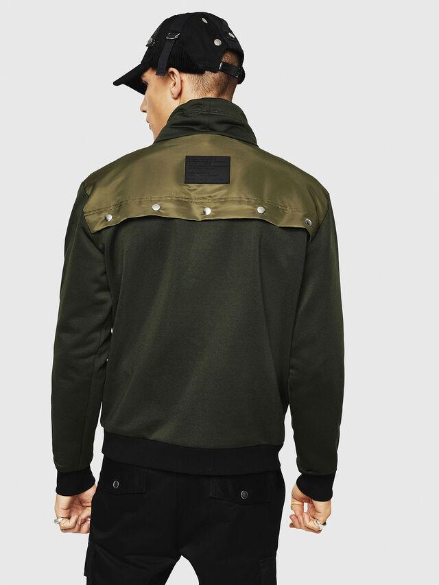 Diesel - S-TENKO, Dark Green - Sweatshirts - Image 2