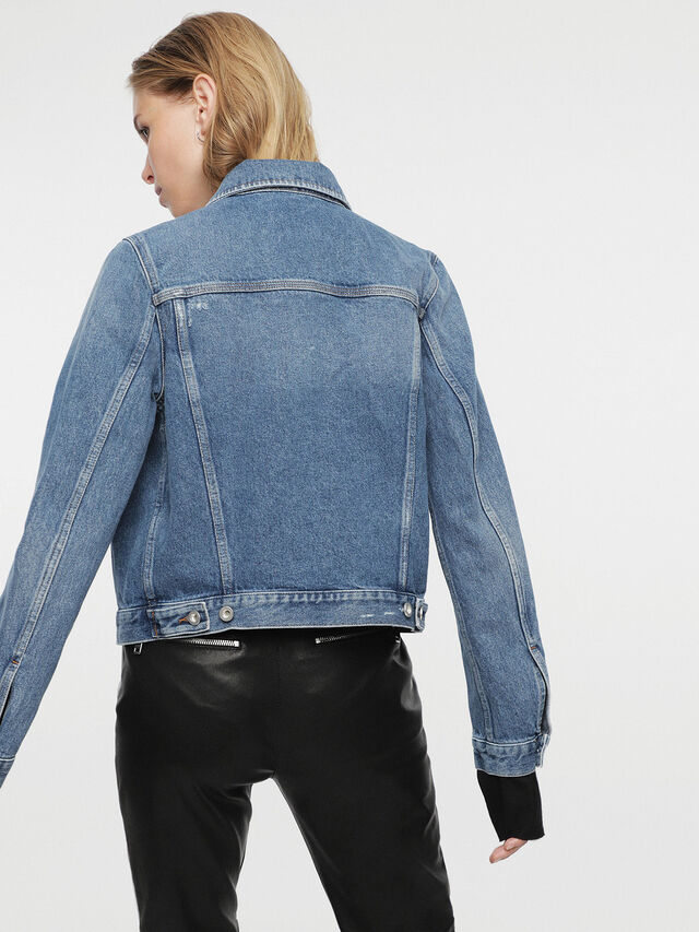 Diesel - HC-DE-VELVET, Blue Jeans - Denim Jackets - Image 2