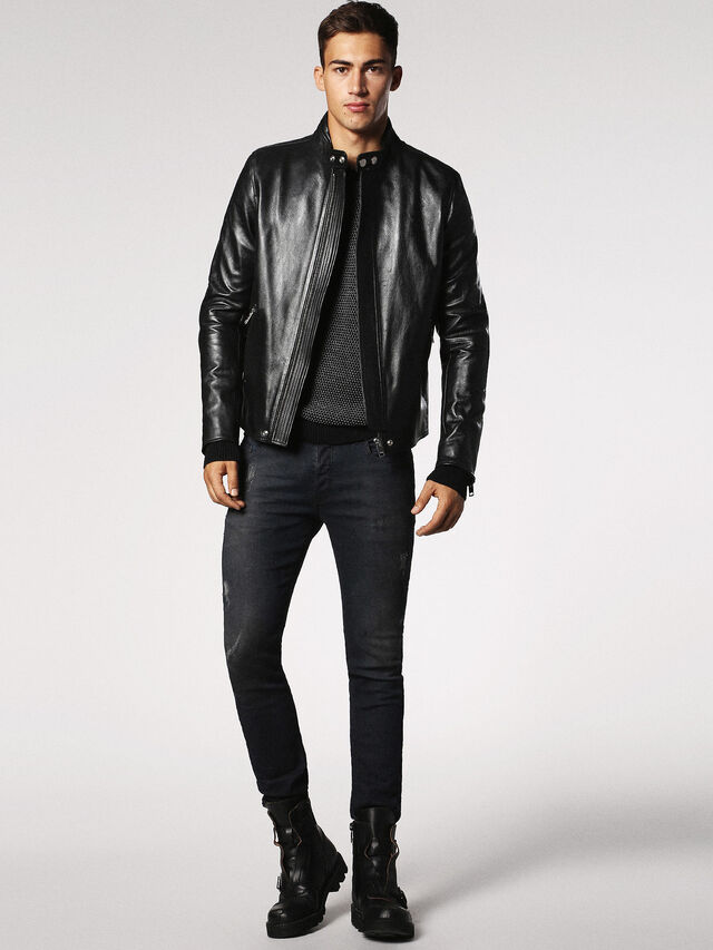 Diesel - L-RUSH, Black - Leather jackets - Image 4