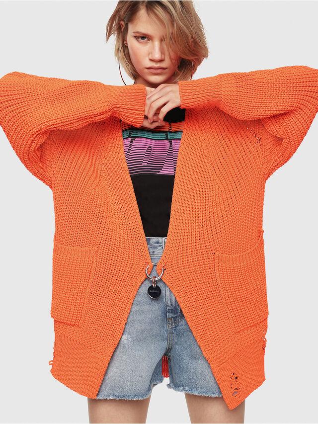 Diesel - M-CRI, Orange Fluo - Sweaters - Image 1