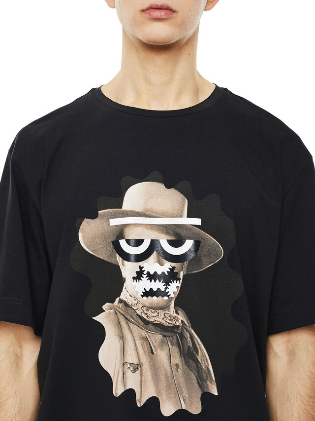 Diesel - TEORIAL-COWBOY, Black - T-Shirts - Image 3