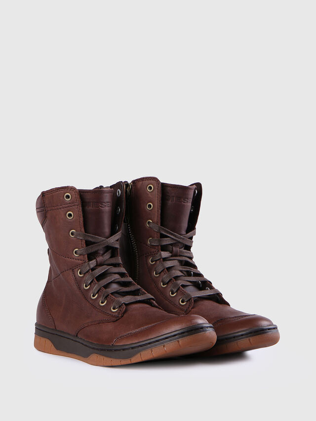 Diesel - S-BOULEVARD, Brown Leather - Boots - Image 2