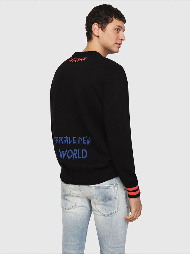 Diesel - K-FUT, Multicolor/Black - Sweaters - Image 2