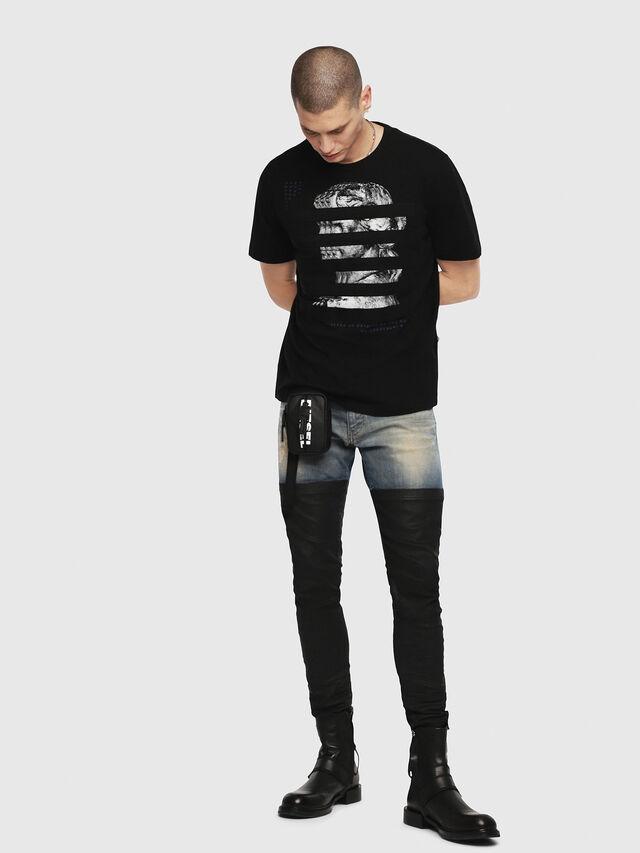 Diesel - T-JUST-YO, Black - T-Shirts - Image 4
