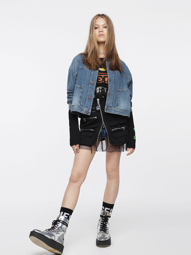 Diesel - DE-CRUSHIN, Blue Jeans - Denim Jackets - Image 4