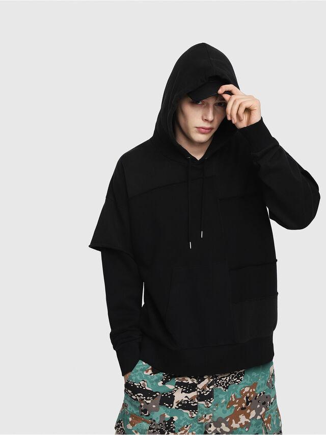 Diesel - S-TADAO, Black - Sweatshirts - Image 1