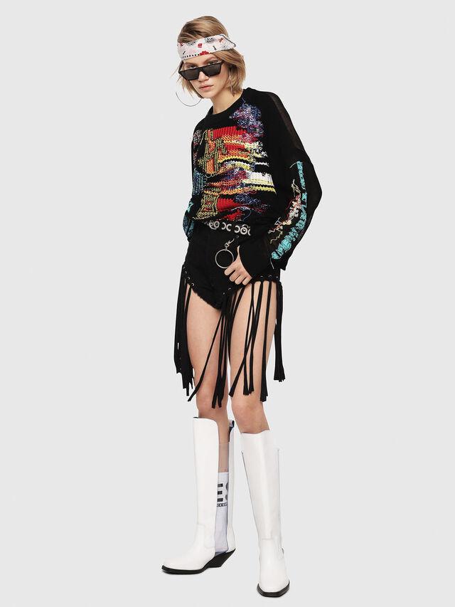 Diesel - M-NOW, Multicolor/Black - Sweaters - Image 5