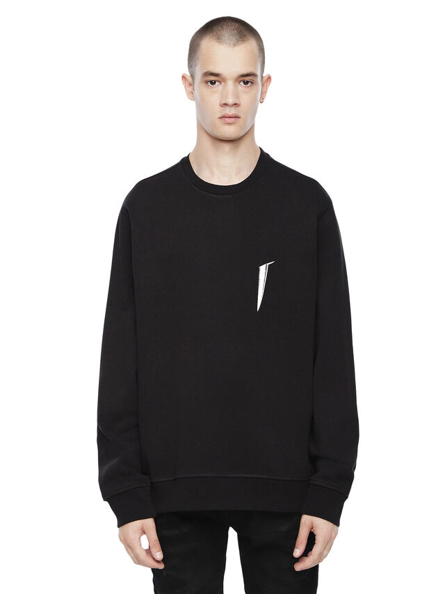Diesel - SNEILB-SCISSORS, Black - Sweatshirts - Image 1