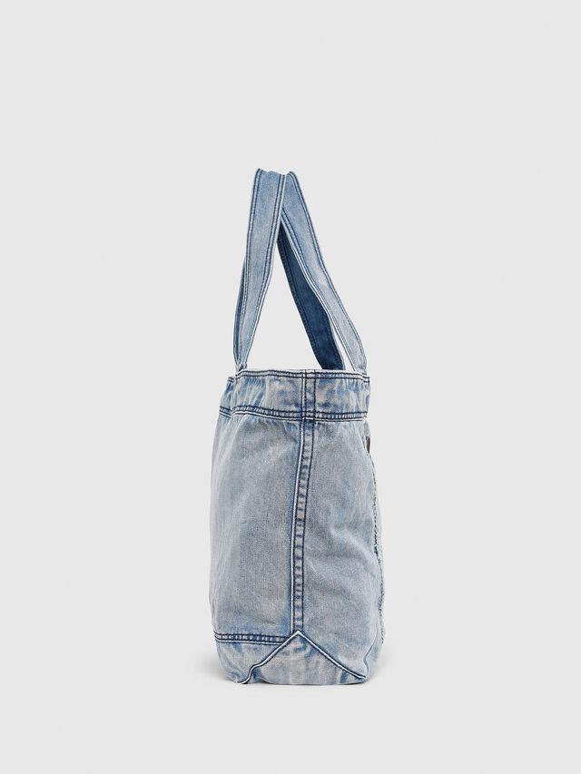 Diesel - D-THISBAG SHOPPER L, Light Blue - Shopping and Shoulder Bags - Image 3