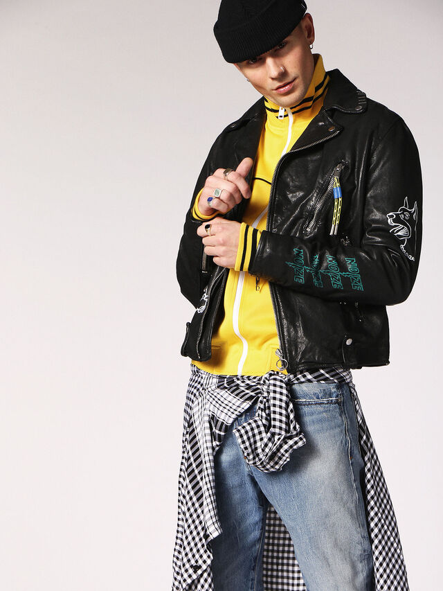 Diesel - L-WILL, Black Leather - Leather jackets - Image 3